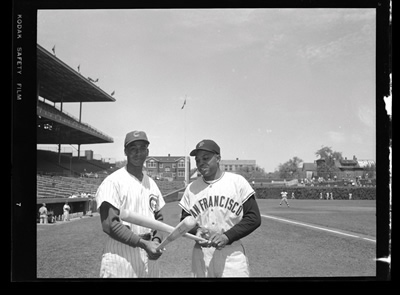 Ernie Banks & Willie Mays